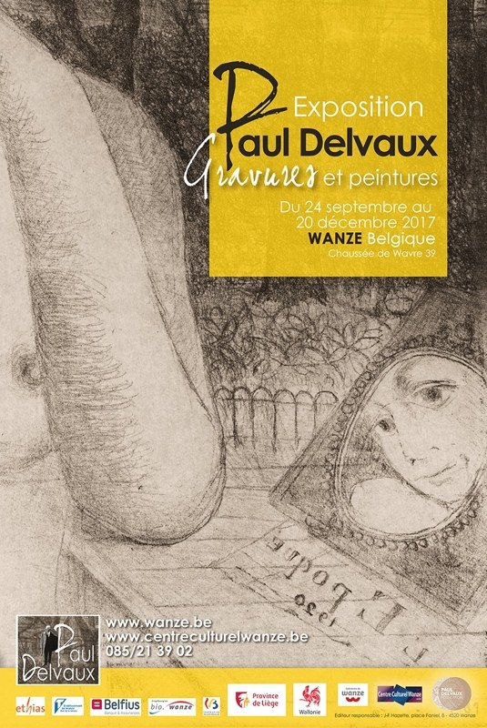 Affiche expo Delvaux
